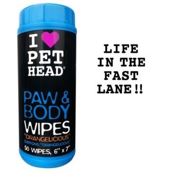 """Pet Head Салфетки гипоаллергенные """"Цитрусовый бум"""" для лап и тела, 50 шт. (PAW & BODY)"""