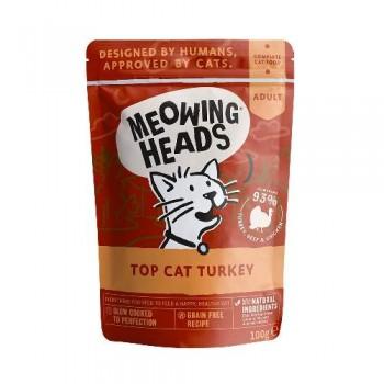 "Barking Heads / Баркинг Хедс Паучи для кошек и котят с индейкой, говядиной и курицей ""Аппетитная индейка"" (Top Cat Turkey 100g), 100 гр"
