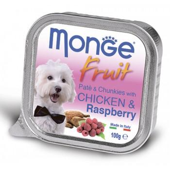 Monge / Монж Dog Fruit консервы для собак курица с малиной 100г