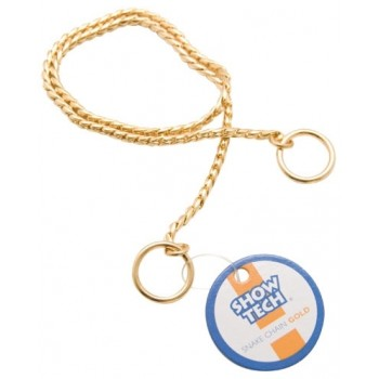 Show Tech металлическая шоу цепочка-кобра 70 см х 5 мм золотая