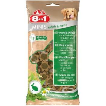 8in1 Минис Кролик и травы, с просом, 100гр. 8in1 Minis Rabbit&Herbs 100g