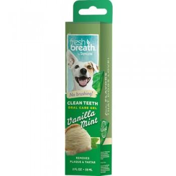 TropiClean / Тропиклин Гель для чистки зубов с ванилью и мятой  для собак 59 мл