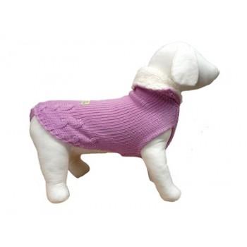 "Ferribiella / Феррибиэлла свитер с тёплым воротом ""Маглия""(лавандовый) на длину 27 см"