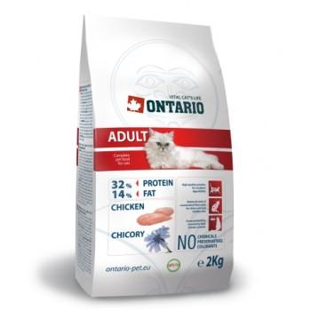 Ontario / Онтарио для взрослых кошек с курицей 2 кг