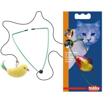 Nobby / Нобби Игрушка д/кошек Птичка на резинке 8см (1х3) 80137