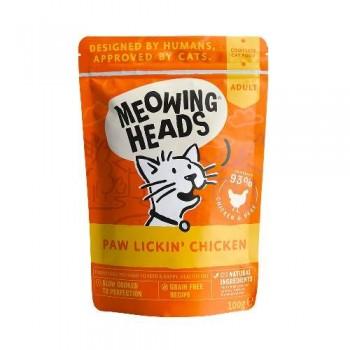 "Barking Heads / Баркинг Хедс Паучи для кошек и котят с курицей и говядиной ""Куриное наслаждение"" (Paw Lickin' Chicken 100g), 100 гр"