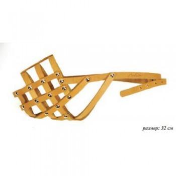 Аркон Намордник кожаный 32мд, размер 32см, цвет натуральный, н32мд (31005)