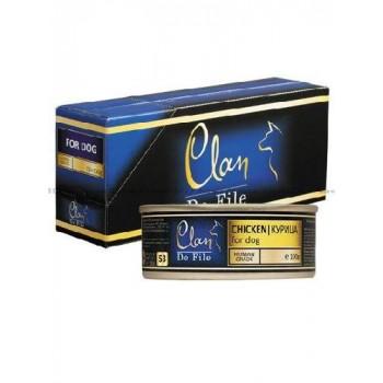 Clan / Клан De File консервы для собак Курица, 0,1 кг