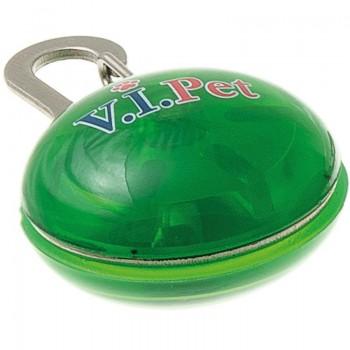 V.I.Pet Маячок светящийся на ошейник круглый большой 1003