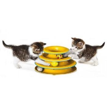 """Petstages / Петстейджес игрушка для кошек Трек """"3 этажа"""" основание 24 см"""