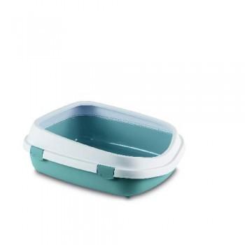 Stefanplast / Стефанпласт Туалет Queen с рамкой, синий, 55*71*24,5см