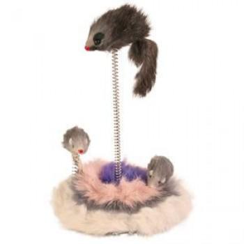 """Trixie / Трикси Игрушка д/кошек """"Мышки на подставке на пружине"""" 30см 4070"""