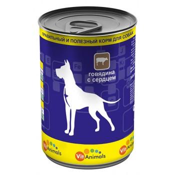 VitAnimals / ВитЭнималс консервы д/собак Говядина с сердцем 410 гр
