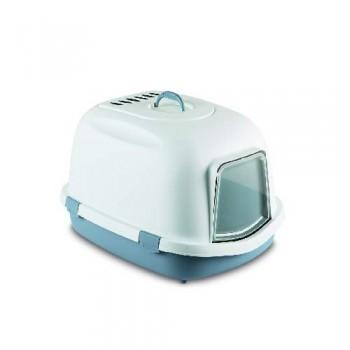 Stefanplast / Стефанпласт Туалет закрытый Super Queen, с угольным фильтром, синий, 71x55x46,5 см