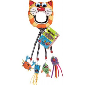 Fat Cat Игрушка д/кошек - Кольцо с мягкими фигурками морских обитателей, подвесная, CatFisher Doorknob Hanger