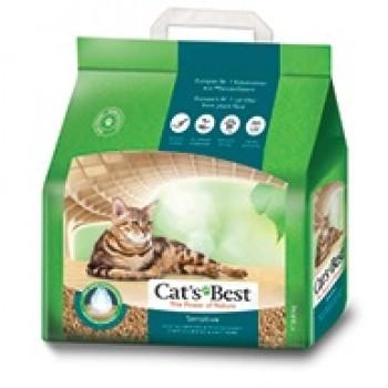 Наполнитель Cat's Best Sensetive 8л*3,2кг Древесный комкующийся для котят и кошек