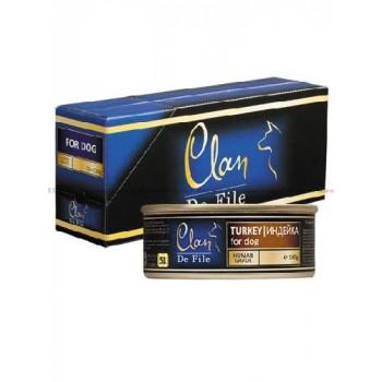 Clan / Клан De File консервы для собак Индейка, 0,1 кг