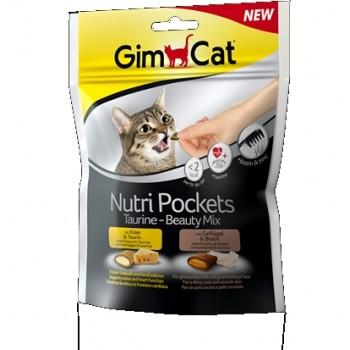 Gimcat / ГимКэт Подушечки Нутри Покетс Таурин-Бьюти Микс д/кошек, 150 г