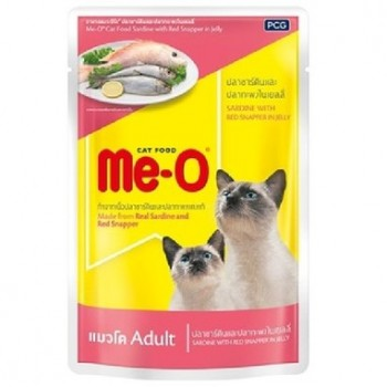 Ме-О Adult пауч д/кошек №4 Сардина с красным окунем в желе 80г 81807