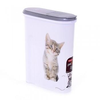"Curver PetLife / Курвер ПетЛайф Контейнер для корма ""Кошка"" на 1,5кг/4,5л, 25*10*30см"