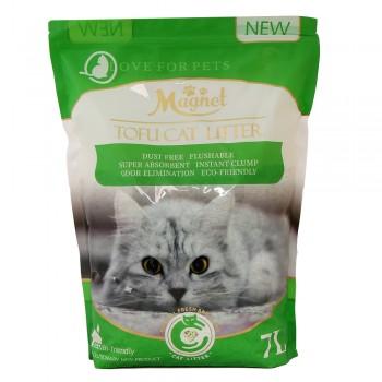 Magnet Наполнитель комкующийся, растительный Tofu Cat Litter, Green Tea 7 л