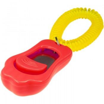 ZooOne Кликер трёхтоновый в форме лапки с браслетом (красный)