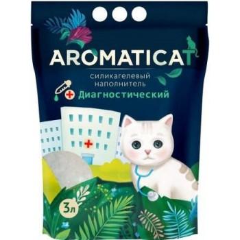 """AromatiCat / АроматиКэт Силикагелевый наполнитель """"AromatiCat"""" 3л. ДИАГНОСТИЧЕСКИЙ с гранулами-индикаторами pH"""