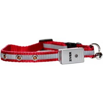 Ziver / Зивер 402 Ошейник светящийся со светосенсором, красный 1,2х30см