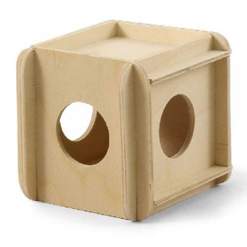Gamma / Гамма Игрушка-кубик для мелких животных деревянный, 115*100*100мм