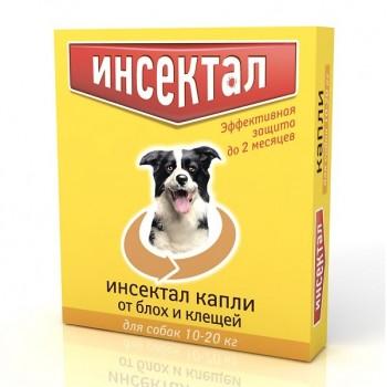 Инсектал Капли от клещей и блох для собак 10-20 кг