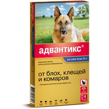 Адвантикс 400 с (Байер) для собак свыше 25 кг (4 пипетки х 4 мл)