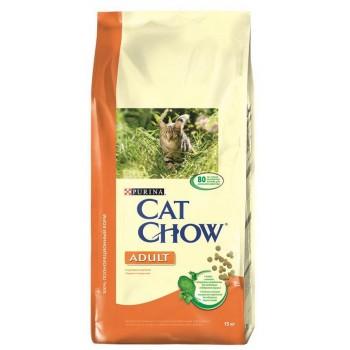 """Cat Chow / Кэт Чоу """"Adult"""" сухой 15 кг для кошек Индейка Курица"""