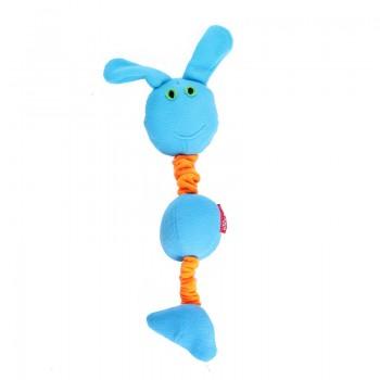 OSSO / ОССО Toys Заяц на резинке с пищалками для собак Иф-1052