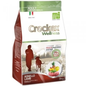 CROCKEX / КРОКЕКС Wellness сухой корм для собак средних и крупных пород 3 кг ягненок с рисом MCF3803