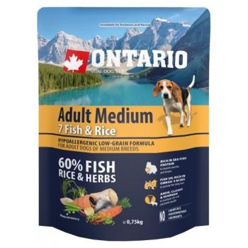 Ontario / Онтарио для собак с 7 видами рыбы и рисом 0,75 кг