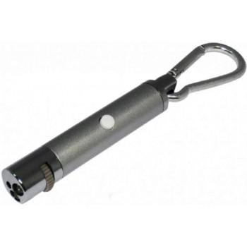 V.I.Pet Указка - Дразнилка лазерная для игры с кошкой (5 свет.фигур) с фонариком 1014