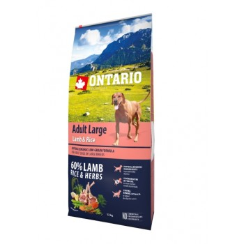 Ontario / Онтарио для собак крупных пород с ягненком, индейкой и рисом 12 кг
