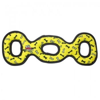 Tuffy / Таффи Супер прочная игрушка для собак Буксир для перетягивания тройной, желтый, прочность 9/10