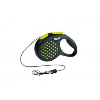 Рулетка Flexi Design XS 3м*8кг (трос) желтый
