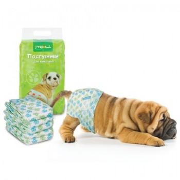 Triol / Триол Подгузник для собак XS, вес собаки 2-4кг (уп.22шт.)
