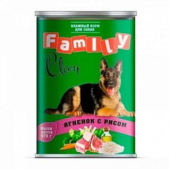 Clan / Клан Family консервы д/собак ягненок с рисом, 0,97 кг