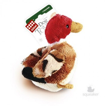 GiGwi / ГиГви Игрушка для собак Утка с пищалкой 11 см, серия PLUSH FRIENDZ