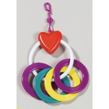 Hagen / Хаген игрушка для птиц - сердечко с кольцами