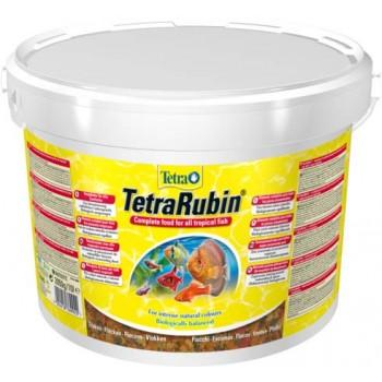 TetraRubin / Тетра корм в хлопьях для улучшения окраса всех видов рыб 10 л (ведро)