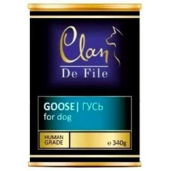 Clan / Клан De File консервы для собак Гусь, 0,34 кг