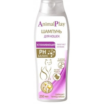 Animal Play / Энимал Плэй Шампунь д/кошек Успокаивающий с экстрактом мелиссы 250мл