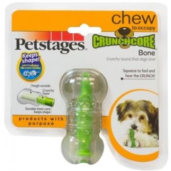 """Petstages / Петстейджес игрушка для собак """"Хрустящая косточка"""" резиновая 8 см очень маленькая"""