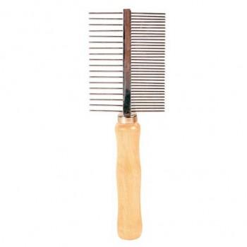 Trixie / Трикси Расческа д/собак двусторонняя, деревянная ручка 18см 2396