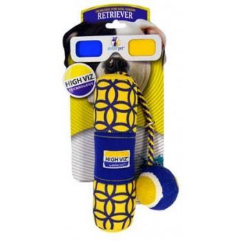 """R2P игрушка для собак High-Viz """"Аппортировка с теннисным мячом"""" текстиль для игр на воде 30 см"""