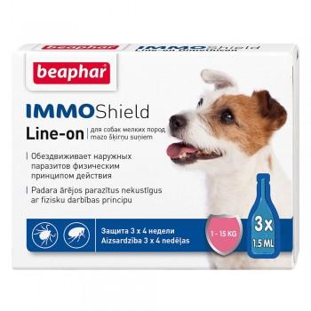 Beaphar / Беафар Капли Vermicon/IMMO Shield от блох и клещей д/собак мелких пород 3 пип.
